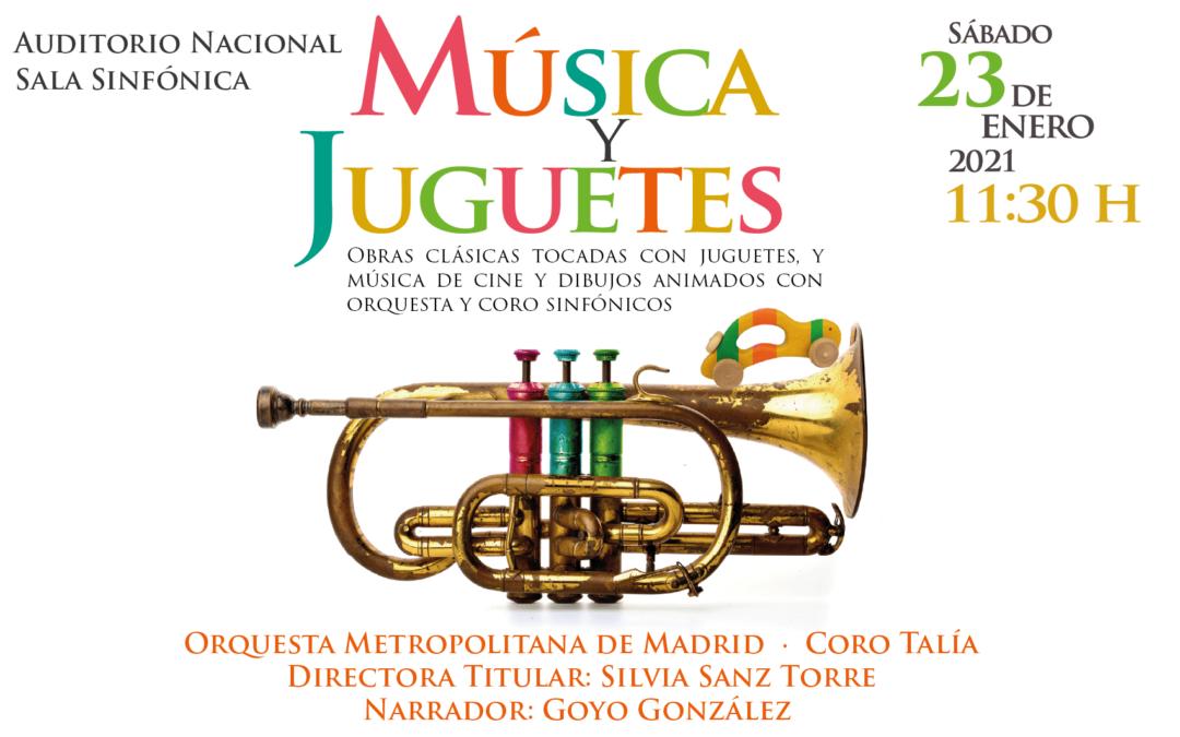 Música y Juguetes 2021: la propuesta anual de Silvia Sanz Torre, Orquesta Metropolitana y Coro Talía para disfrutar de la música en familia