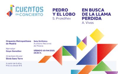 Sábado 10 de abril en el Auditorio Nacional, Cuentos en concierto, el nuevo encuentro con las familias de la Orquesta Metropolitana de Madrid y su directora Silvia Sanz Torre